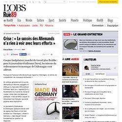 Crise: «Le succès des Allemands n'a rien à voir avec leurs efforts»