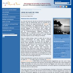 Crise de Suez de 1956 - Les clés du Moyen-Orient