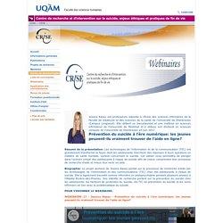 """Webinaire """"Prévention du suicide à l'ère numérique: les jeunes peuvent-ils vraiment trouver de l'aide en ligne? """"(UQAM"""