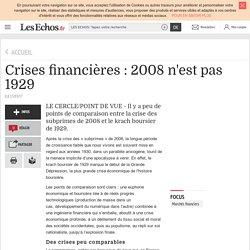 Crises financières : 2008 n'est pas 1929