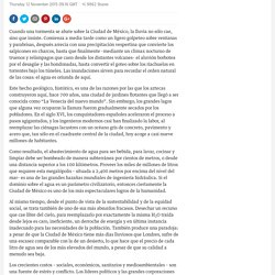 La crisis del agua de la Ciudad de México