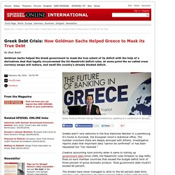 Greek Debt Crisis: How Goldman Sachs Helped Greece to Mask its T