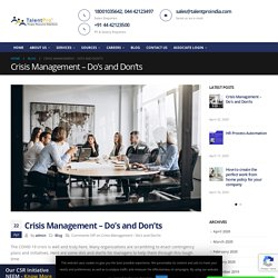 Crisis Management - Do's and Don'ts