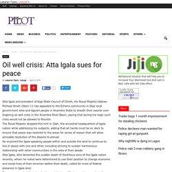Nigerian News on the go from Nigerian Pilot Newspaper