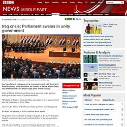 Iraq crisis: Parliament swears in unity government