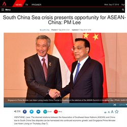 South China Sea crisis presents opportunity for ASEAN-China: PM Lee