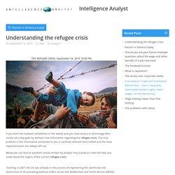 Understanding the refugee crisisIntelligence Analyst