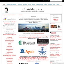 Crisis Mappers Net - THE INTERNATIONAL NETWORK OF CRISIS MAPPERS