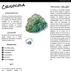 CRISOCOLA - Usos y propiedades