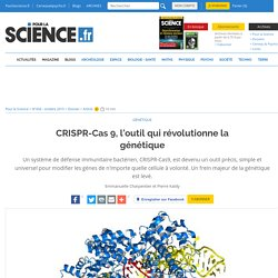 CRISPR-Cas 9, l'outil qui révolutionne la génétique
