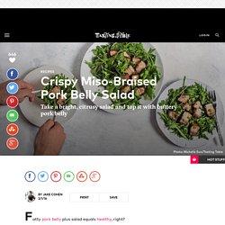 Crispy Miso-Braised Pork Belly Salad