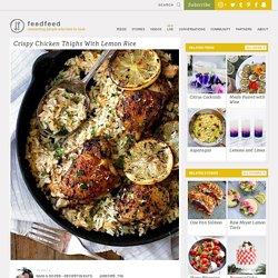 Crispy Chicken Thighs With Lemon Rice