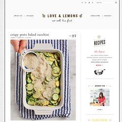 crispy pesto baked zucchini