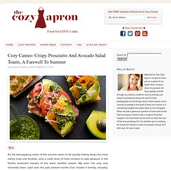 Crispy Prosciutto and Avocado Salad Toasts