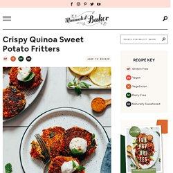 Crispy Quinoa Sweet Potato Fritters