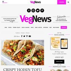 Crispy Hoisin Tofu Vegan Tacos with Scallion Tortillas