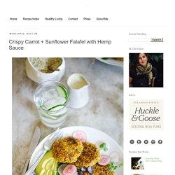 Crispy Carrot + Sunflower Falafel with Hemp Sauce
