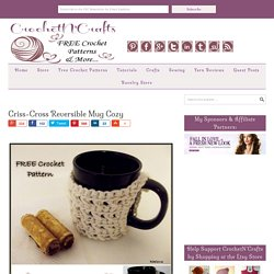 Criss-Cross Reversible Mug Cozy
