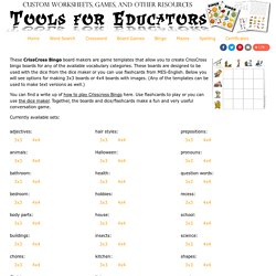 printable bingo boards for language classes, English lessons, Spanish, french and more
