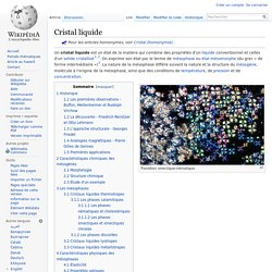 Cristal liquide