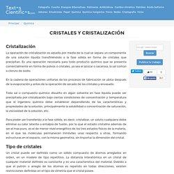 Cristales y cristalización