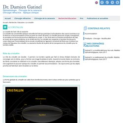 Le cristallin - Docteur Damien Gatinel