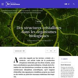 Des structures cristallines dans les organismes biologiques