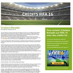 achat Cristiano Ronaldo crédits fifa 16 fut 16