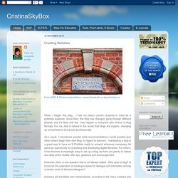 CristinaSkyBox: Creating Websites