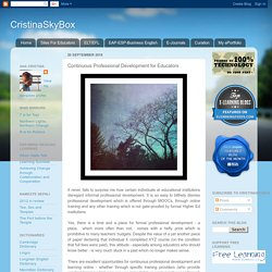 CristinaSkyBox: Continuous Professional Development for Educators