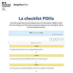 90 critères pour 1 filtre appliqué - Checklist Pidila