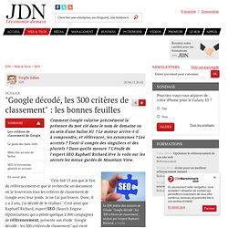 """""""Google décodé, les 300 critères de classement"""" : les bonnes feuilles - Journal du Net Solutions"""