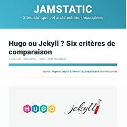 Hugo ou Jekyll ? Six critères de comparaison · Jamstatic