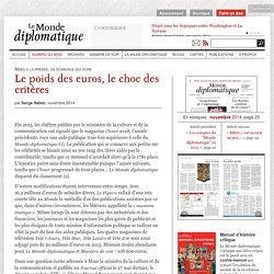 Aides à la presse : le poids des euros, le choc des critères, par Serge Halimi (Le Monde diplomatique, novembre 2014)