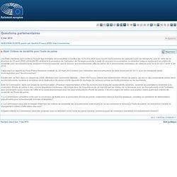 PARLEMENT EUROPEEN - Réponse à question: P-3243/10 Critères de durabilité pour l'huile de palme