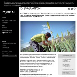 Nos critères d'évaluation-L'Oréal Groupe
