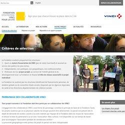 Critères de sélection - Fondation VINCI pour la Cité