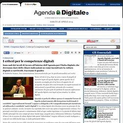 I criteri per le competenze digitali