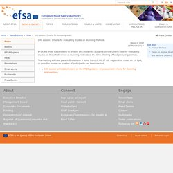 EFSA News in brief: Info session: Criteria for evaluating studies on stunning methods