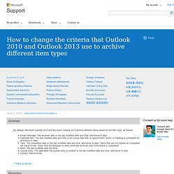 Outlook - How to archive ALL old emails
