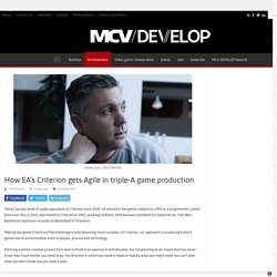How EA's Criterion gets Agile in triple-A game production
