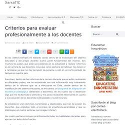 Criterios para evaluar profesionalmente a los docentes