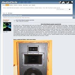 Bob Crites Klipsch speaker mod kits