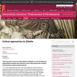 Critical approaches to Othello