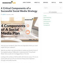 4 Critical Components of a Successful Social Media Strategy