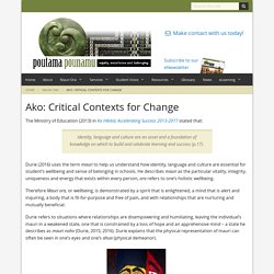 Ako: Critical Contexts for Change - Poutama Pounamu
