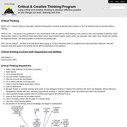Critical and Creative Thinking - Critical Thinking