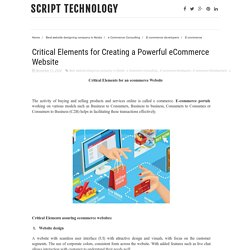 Critical Elements for Creating a Powerful eCommerce Website