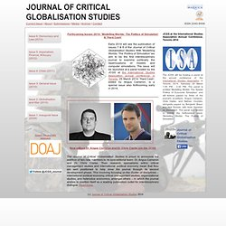 Journal of Critical Globalisation Studies | Open access academic journal