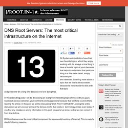 DNS Root Servers: The most critical infrastructure on the internet